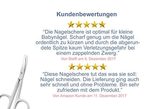 Profi Nagelschere Baby-Nagelschere mit abgerundeten Enden aus Edelstahl - 4