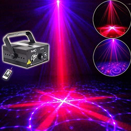 Bühnenbeleuchtung 3-Loch-Mini 24-in-one-Muster-Voice-Activated Fernbedienung Disco-Blitzlicht for Party Bar Ktv Bühne Disco ANGANG