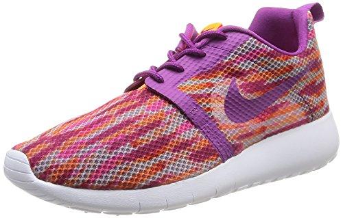 Nike Roshe Run 705486 100, Jungen Sportschuhe, Mehrfarbig (Weiß/Bld Berry-Total Orange-Pink PW), EU 38.5
