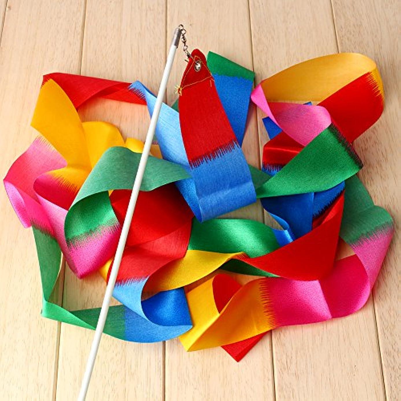 VGEBY1 Dance Ribbons, Gymnastics Ribbon Wands Rods Ribbon Accessory Set