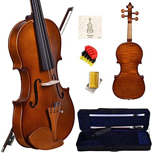 Kadence Vivaldi Violin V100 Series With Bow, Rosin, Hard Case, String Set, 1 Mute Pad (V100S 1/2 Size)