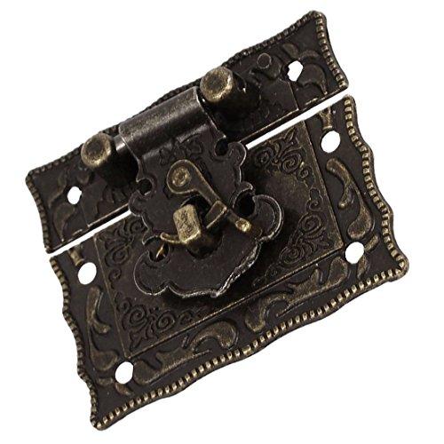 Antique Style Latch - Wood Case Chest Box Rectangle Clasp Closure Hasp Latches Bronze Tone Bolt Door Lock