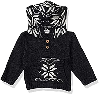 Giggles Kangaroo Pocket Front Buttons Hoodie for Boys