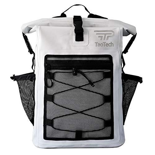 【TaoTech】 防水バッグ ドライバッグ 防水 リュック ロールトップ 大容量 バッグ アウトドア 旅行 迷彩 男女兼用 20L 25L 30L (25L, タイプA/ホワイト25L)