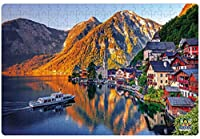 Webby Hallstatt Mountain Scenic View Jigsaw Puzzle, 252 Pieces