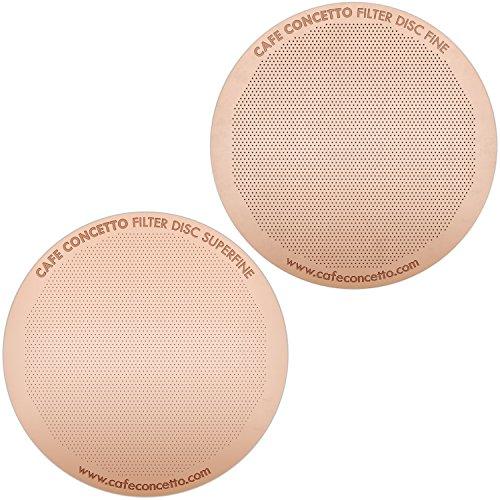 Filterscheiben für AeroPress Cafe Concetto Fine & Superfine rose gold