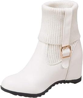 a719ab5ba1a NIGHTCHERRY Women Fashion Hidden Heel Ankle Boots Pull On