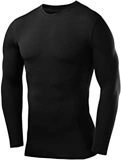 Men's & Boy's Compression Shirt Base Layer Top Long Sleeve Thermal - Crew Neck