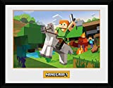 GB Eye Ltd Minecraft, Zombie Attack Kunstdruck, gerahmt,