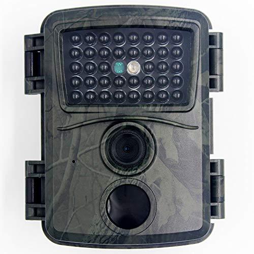 MZBZYU Camaras de Caza Vision Nocturna FHD 1080P Trail Camera con Tarjeta SD de 32GB y 38 LED Infrarrojos IP54 Impermeable Gran Angular de 120° Tiempo de Activación 0.8s 15m de PIR Distancia