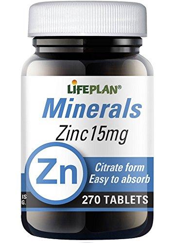 Lifeplan Zinc Citrate 15mg 270 Tablets