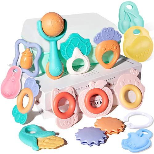 (15 piezas) Mordedors Para Bebés,Mordedor Bebes BPA Gratis Juguetes Para la Dentición Para Bebés,Can Be Sterilized in 100°C Boiling Water,Por 0-6-12-18 Meses Niños Niñas Regalos Para