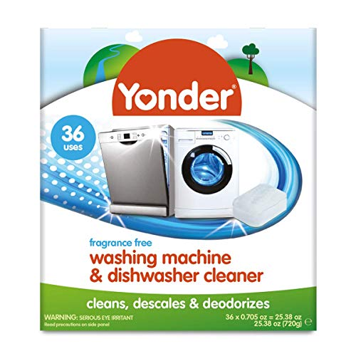 Yonder 2-in-1 Washing Machine & Dishwasher Cleaner | Front & Top Loader, 36 Count