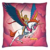 2Bhip She-Ra Princess of Power Cartoon TV Series She-Ra and Swift Wind Throw Pillow