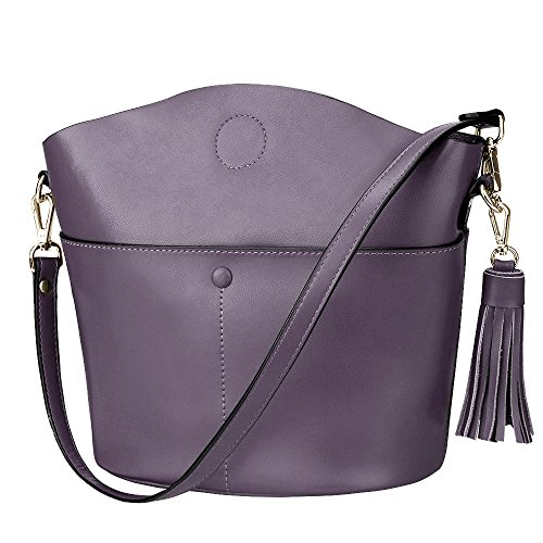 S-ZONE Women Cowhide Genuine Leather Small Crossbody Bag Shoulder Purse Handbag