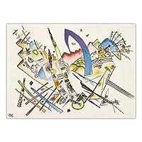 WassilyKandinsky家の装飾プリントキャンバスアートパネル壁写真リビングルーム水彩線ポスター抽象アートパネルキャンバス絵画インテリア40x60cmフレームなし-2