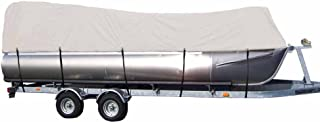 iCOVER Pontoon Boat Cover-Water Proof Heavy Duty,Fits Pontoon Boat 17ft to 24ft Long & Beam Width up to 102in,Grey PB6303.