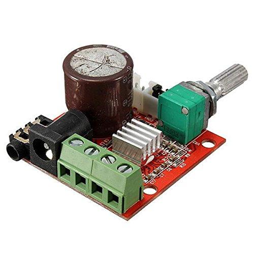 YEZIB Accesorios electrónicos de Bricolaje, Mini Hi-Fi PAM8610 2x10W Audio Audio Amplificador Total Dual Canal 12V
