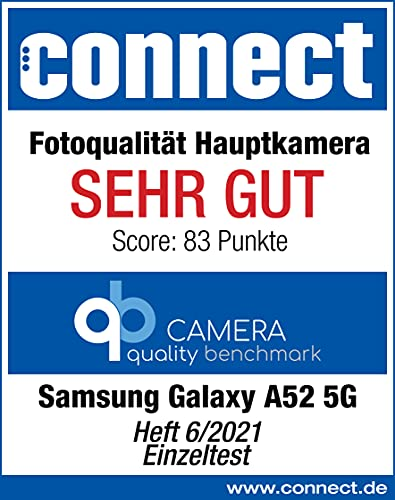 Samsung Galaxy A52 5G Smartphone ohne Vertrag 6.5 Zoll Infinity-O FHD+ Display, 128 GB Speicher, 4.500 mAh Akku und Super-Schnellladefunktion, blau, 30 Monate Herstellergarantie [Exklusiv bei Amazon] - 9