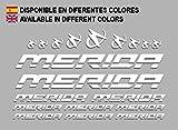 Ecoshirt T2-3497-75GF Aufkleber Merida Frame Set Bikes F150 Sticker Decals Sticker MTB BTT, Weiß