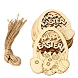 Decoración de Pascua, colgante de madera para colgar en la pared, decoración de puerta, para el hogar, decoración del hogar, juguetes, regalo de fiesta de Pascua para niños y adultos