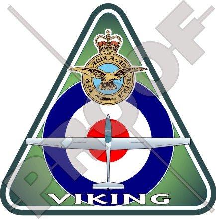 Viking T.1 RAF Grob G103A Twin II Acro Britanique Royal Armée de l'Air VGS Air Cadets, 95mm Vinyl Sticker, Autocollant