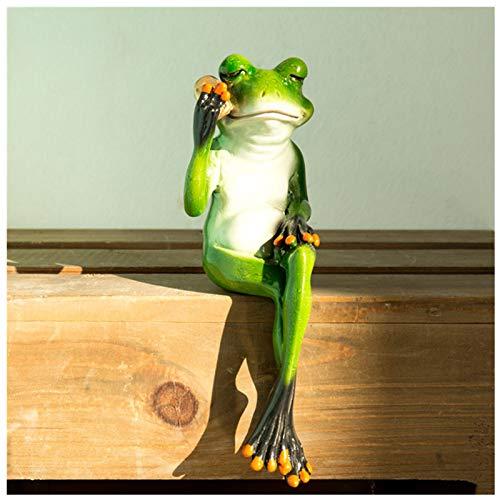 BELUPAI 3D kreative Frosch-Statuen/Figuren/Modell, Tischdekoration, Harz, kreativer Frosch, Miniatur-Feengarten, sitzende Frösche, Bastel-Frosch