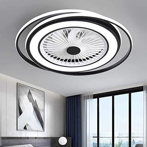 Ventiladores de techo LED con luces de 51 W, moderna lámpara de techo de montaje empotrado, accesorio de luz LED integrado para dormitorio iluminación de sala de estar (color: 6500 K)