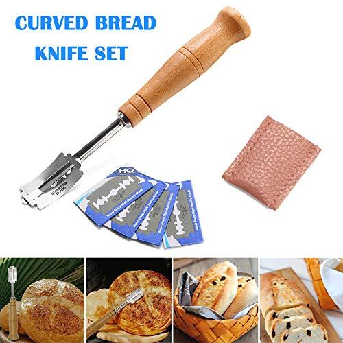 Brood Slashing Tool, Baker's Lame Deeg maken Razor Cutter Accessoires voor Bakken Keuken(Maat: Totale Lengte: 18,5 cm; Bladen: 3,5 x 2,2 cm)