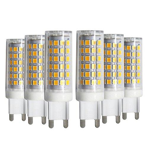 LFIM gloeilampen daglicht keramiek licht 360 graden stralingshoek G9 LED keramische lamp 9 Watt equivalent vervanging 80 Watt halogeenlamp (6-pack)
