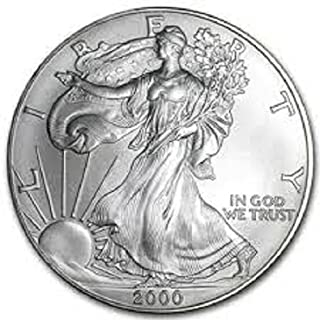 2000 - American Silver Eagle .999 Fine Silver with Our Certificate of Authenticity Dollar Uncirculated US Mint