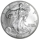 American Silver Eagle $1 Legal US Tender .999 Fine Silver Now with Certificate of Authenticity! Dated 2000