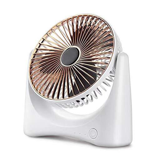 SXFYMWY Mini Ventilador eléctrico Carga USB Silencioso Portátil Ventilador Espiral Aspa Home Office Desktop Ventilador de circulación de Aire