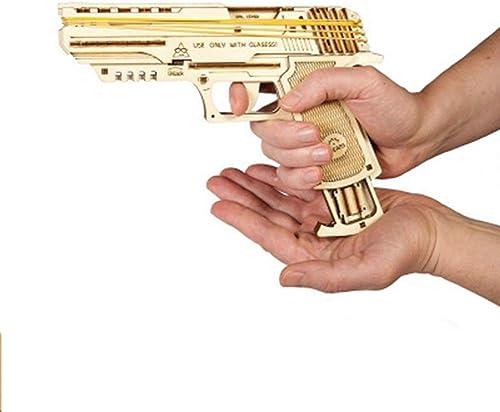 Wq zxc La Transmission D'engrenage De Pistolet en Bois Modèle TridiPour des hommesionnel De Puzzle 3D sans Batterie Peut égaleHommest Se Déplacer 100% Bois