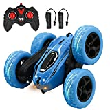 Kids Toys Remote Control Car - 4 Wheel Drive Stunt RC Cars with 2 Rechargeable Battery - Hobby Car Birthday Gifts for Toddlers at Age of 4 5 6 7 8 9 Boys & Girls