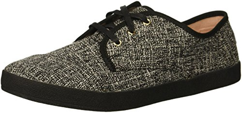 TOMS Women's Paseo Sneaker, Black Two-Tone Woven, 7.5 Medium US