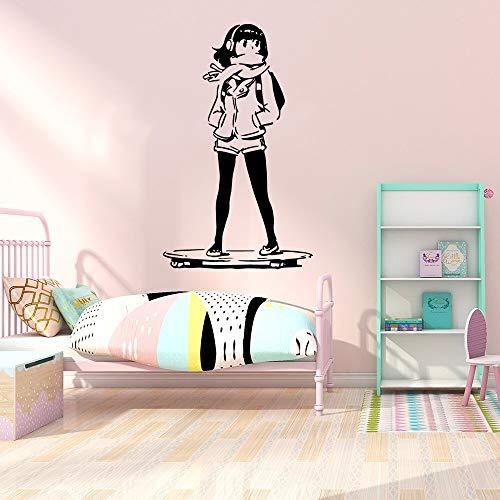 Quszpm Little girl wall art decals wall stickers murals living room bedroom decoration 43cm X 70cm