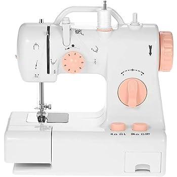 FFRJ Mini Máquinas De Coser Portátiles para El Hogar Herramientas De Costura Eléctricas Multifuncionales para Maquina para Principiantes para Niña De Navidad Presente Coser Juguete: Amazon.es: Hogar