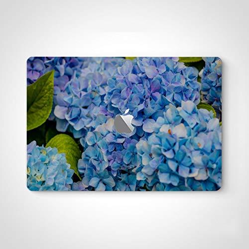Laptop Skin Decal Sticker Blue and Pink Flowers of Hydrangea Laptop Decal Stickers for Men for MacBook Air 13' Pro 13'/15'/16' 2008-2020 Version Laptop Keyboard Decal Sticker
