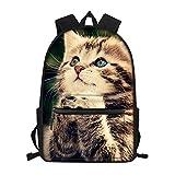 Mochila escolar unisex con estampado de gatitos para niños, niñas - - Medium