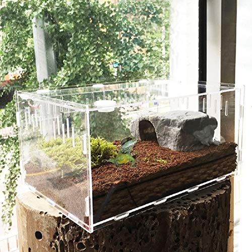 FidgetGear Reptile Cage Breeding Box Tarantula Insect Lizard Snake Amphibian Frog New L