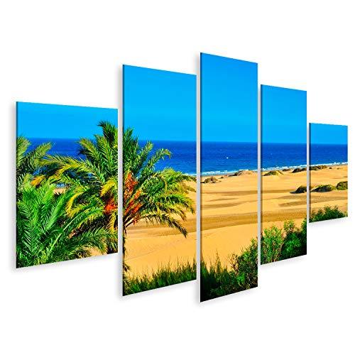 Cuadro Cuadros Vista de la Reserva Natural de Dunas de Maspalomas en Gran Canaria Islas Canarias España Impresión Lienzo Formato Grande Cuadros Modernos RCA