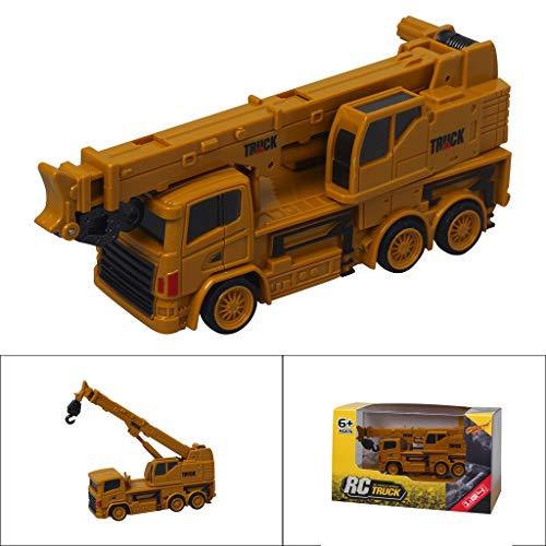 Qinhanjia-RC Mini Baufahrzeug Modellkran Heavy Crane Simulation Automodell Spielzeug, QHJ Fernbedienung Spielzeug, Um Ihr Kind Geburtstags Geschenk, Weihnachts Geschenk, Spielzeug Für Kinder
