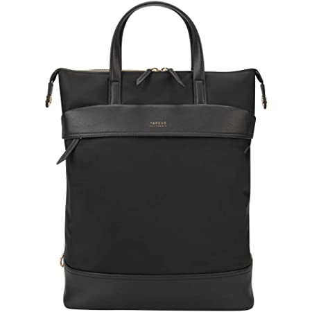 Targus Newport Convertible 2-in-1 Backpack to Tote Bag, Sleek Professional Business Tote Purse Bag and Backpack, Protective Sleeve fits 15-Inch Laptop, Black (TSB948BT)