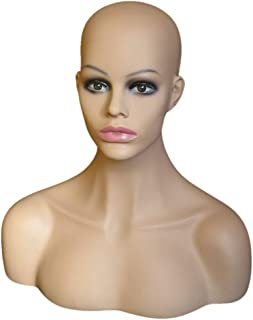 Nrpfell 1PC Female Realistic Body Mannequin Head Jewelry And Hat Display Mold Stand Torso Wig