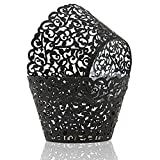 KPOSIYA Pack of 120 Cupcake Wrappers Artistic Bake Cake Paper Cups Vine Designed Laser Cut...