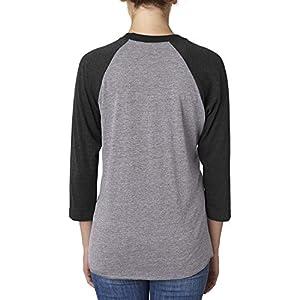 Next Level Unisex 3/4-Sleeve Raglan T-Shirt, Vintage Blk/Premium Hthr, Small