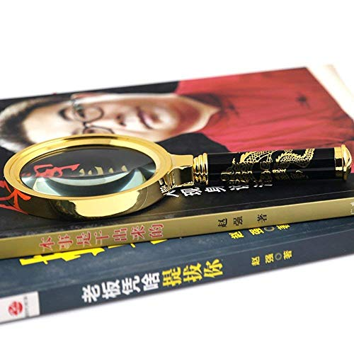 GJJSZ Lupa de Lectura Ultra Clara 80 mm Joyas Antiguas Gafas de Lectura manuales para Ancianos