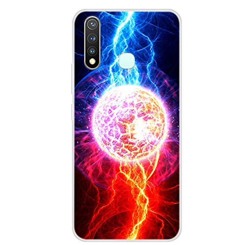 Blackview A80 Pro Silicone Case, Soft Art Starry Sky Print Phone Back Cover, for Blackview A80 Pro TPU Bumper Cover