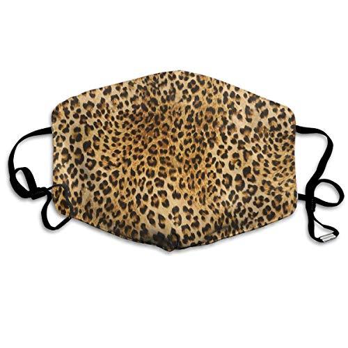Leopard Animal Print Männer Frauen Atmungsaktive, komfortable Gesichtsschutzhülle mit elastischem Gurt für die persönliche Gesundheit